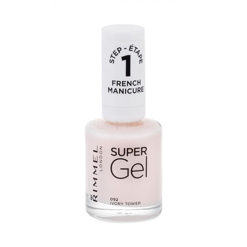 Rimmel London Super Gel French Manicure Step1 Lak Na Nehty Pro Zeny 12 Ml Odstin 092 Ivory Tower Elnino Cz