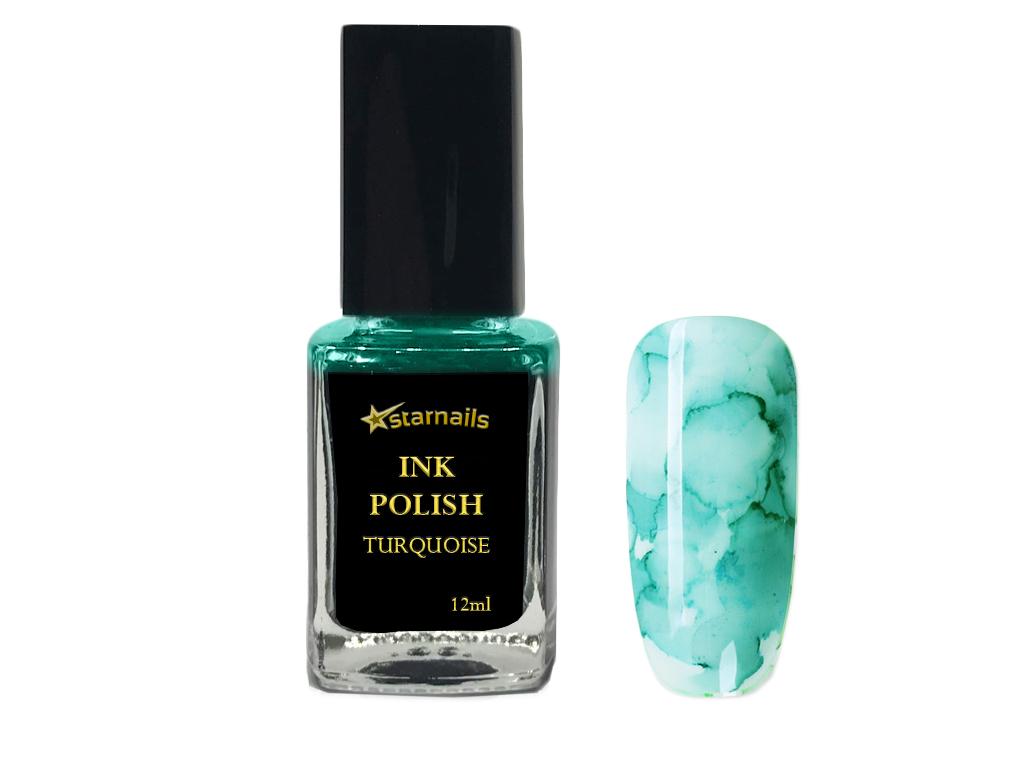 Ink Polish Turquoise Tyrkysovy Inkoustovy Lak Na Nehty 12ml