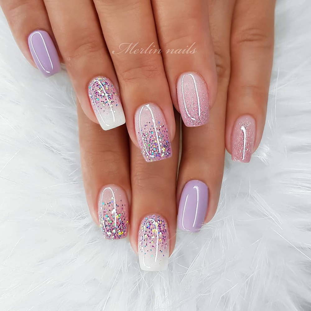 32 Hot Look Nails For 2020 Spring Page 7 Of 16 Sunny For Life Style In 2020 Ombre Nails Glitter Bride Nails Swag Nails