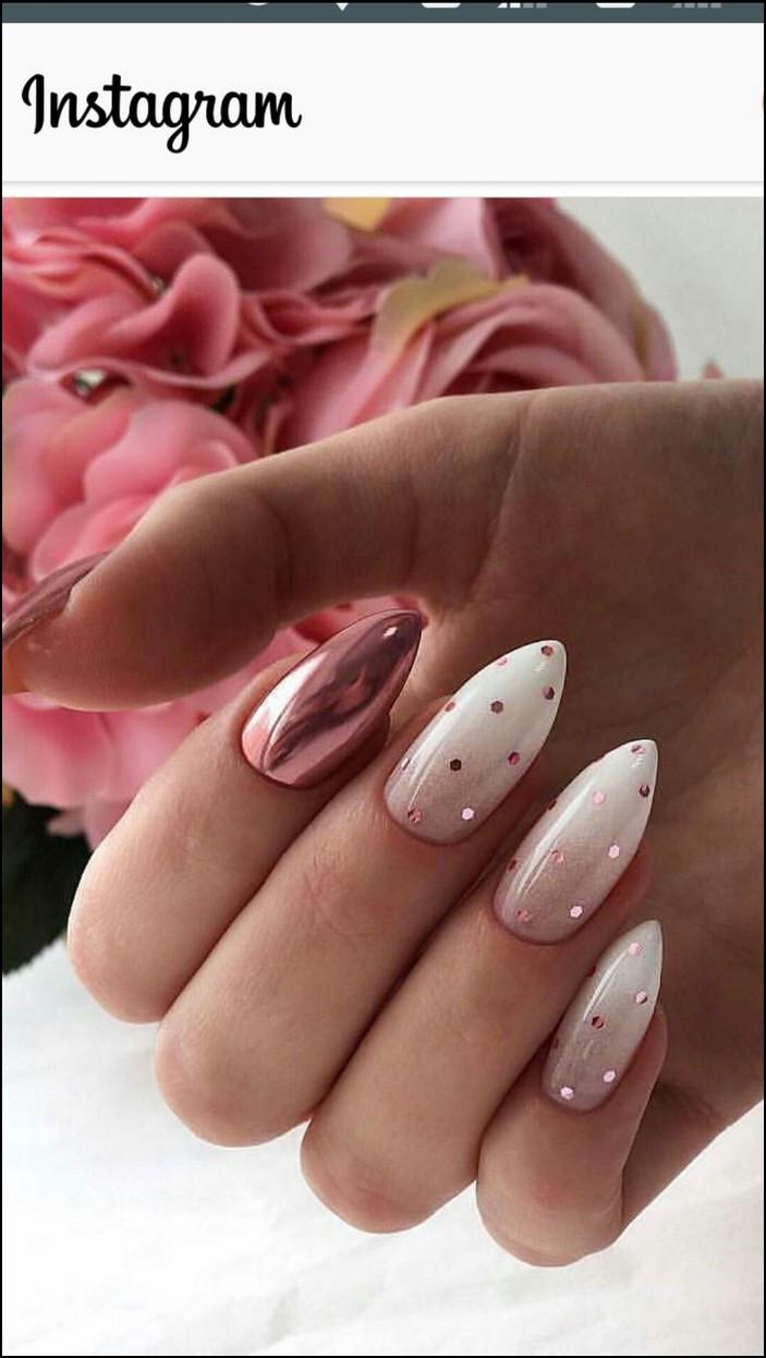 110 Perfect Pink And White Nails For Brides Page 40 Bile Nehty Manikura Zimni Nehty