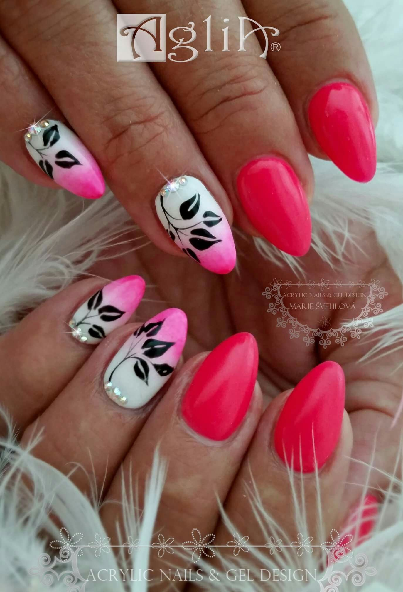 Acrylic Nails Gel Design Pink Ombre Work Nails Nails Nail Designs
