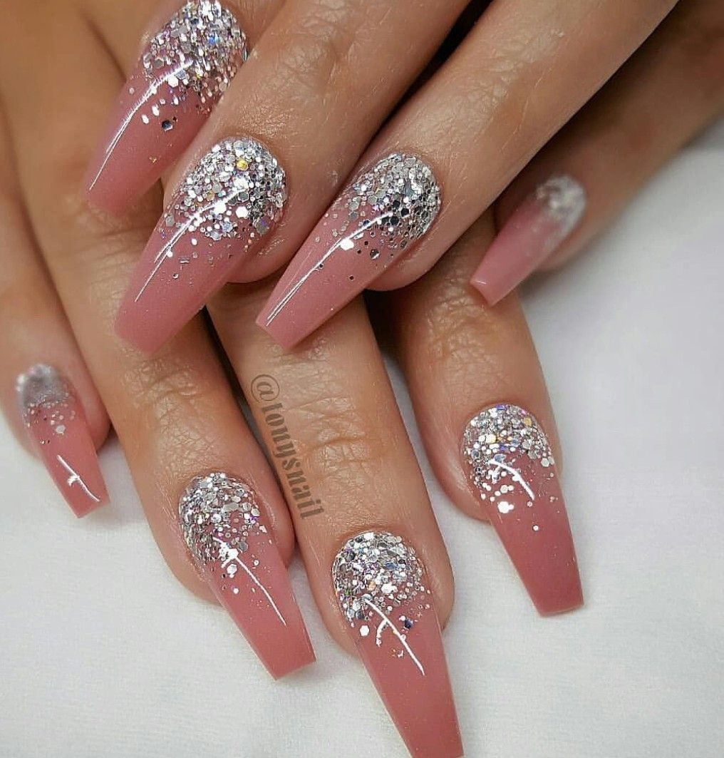 Breathtaking 41 Great Inspiration Nail Art With Glitters To Look More Elegant Nail Http Klambeni Com Index Coffin Nails Designs Luxury Nails Elegant Nails