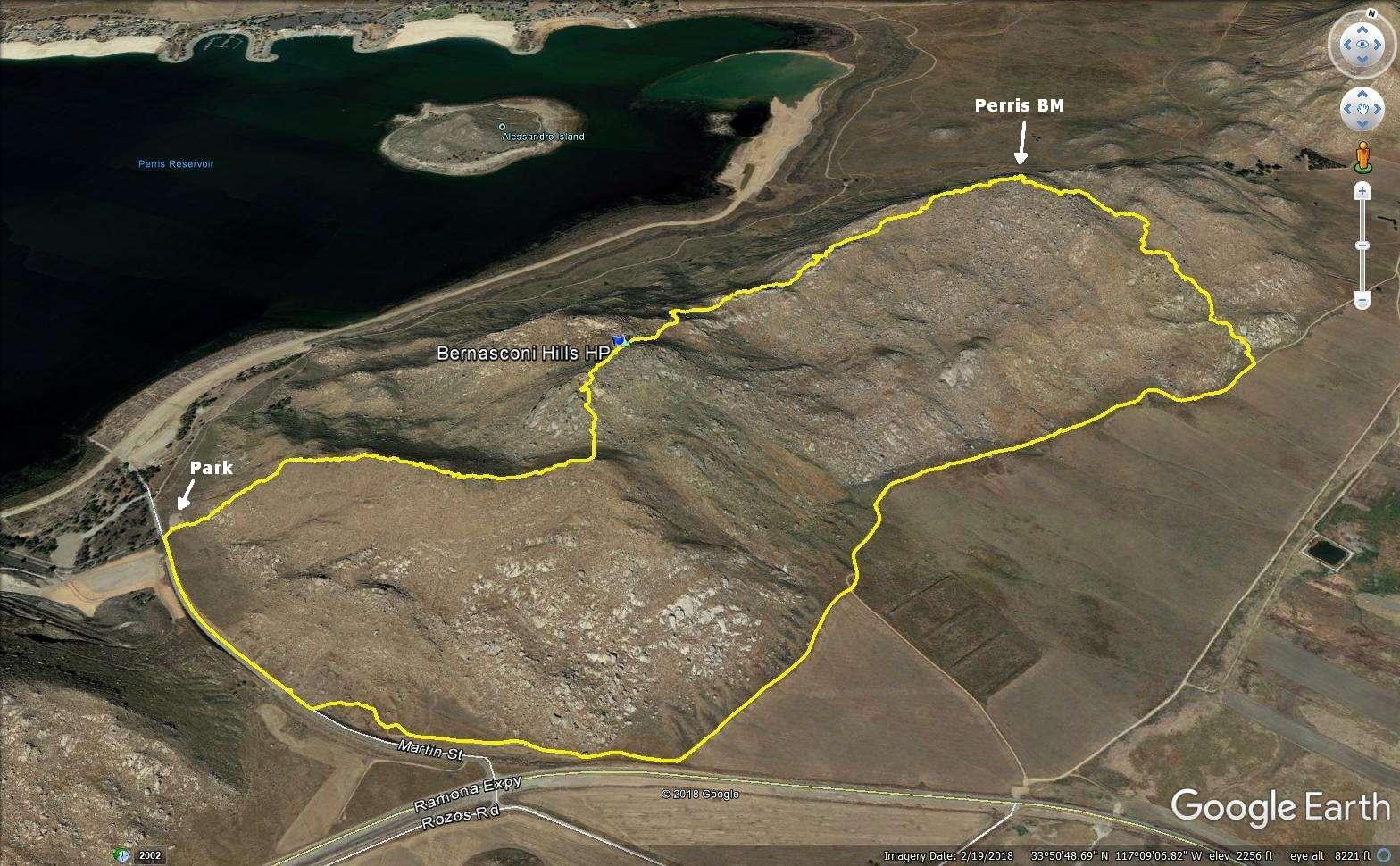 Iron Hiker Bernasconi Hills High Point And Perris Benchmark