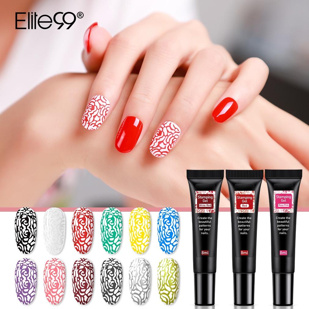 Elite99 8ml Nail Stamping Gel Polish Black White Stamp Uv Gel Nail Polish Soak Off Gel Varnish For Nail Art Stamping Plate Nail Gel Aliexpress