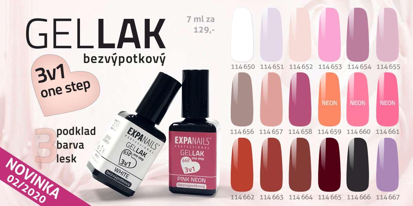 Gel Laky 3v1 Bezvypotkovy Expa Nails