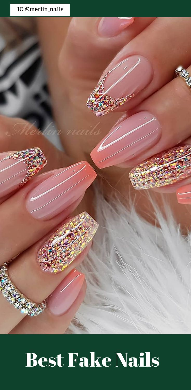 50 Pretty Best Fake Nails Easy 2019 Ombre Nehty Umele Nehty Gelove Nehty
