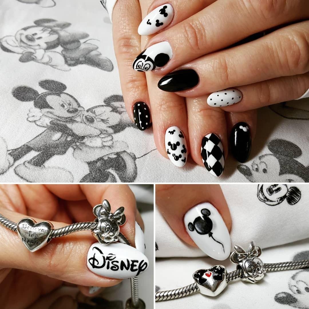 My Black White Gelove Nehty Design Nehtu Nehty