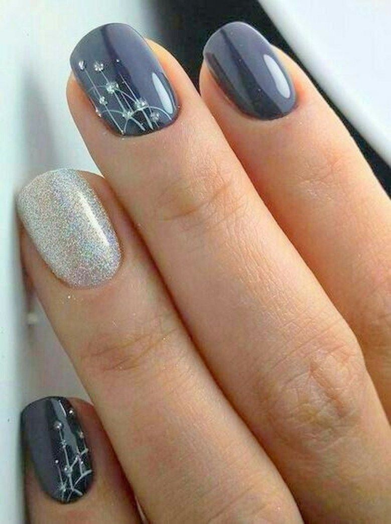 Holiday Winter Nail Art Design To Copy Right Now 14 Bridal Nail Art Simple Nail Designs Simple Nails