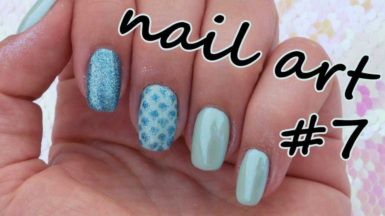 Mermaid Nail Art 7 Letni Nailart Youtube