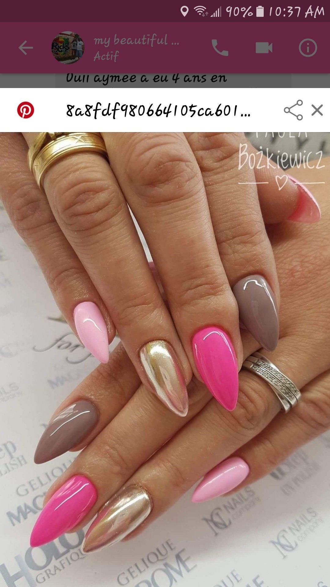 Pin By Ajmiris On Ongles Pink Nails Nail Designs Nails