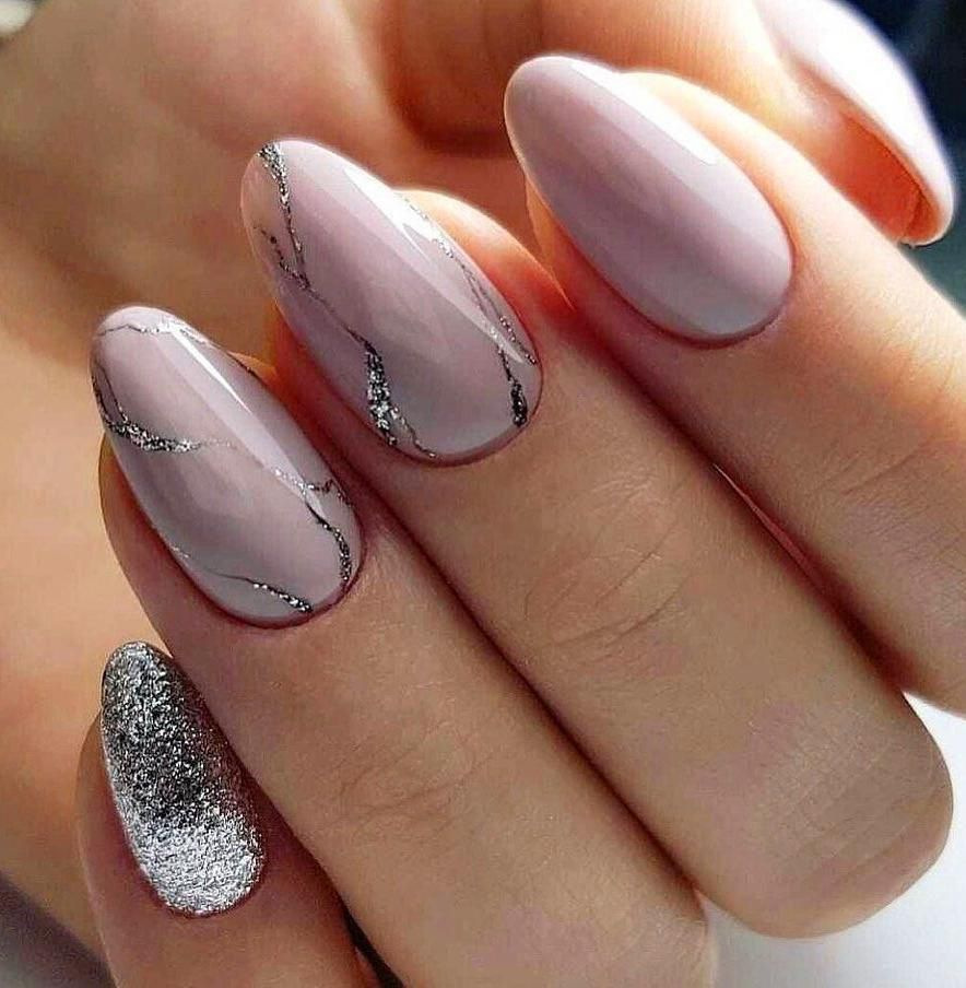 60 Best Gel Nail Designs To Copy In 2019 In 2020 With Images Gelove Nehty Design Nehtu Nehty