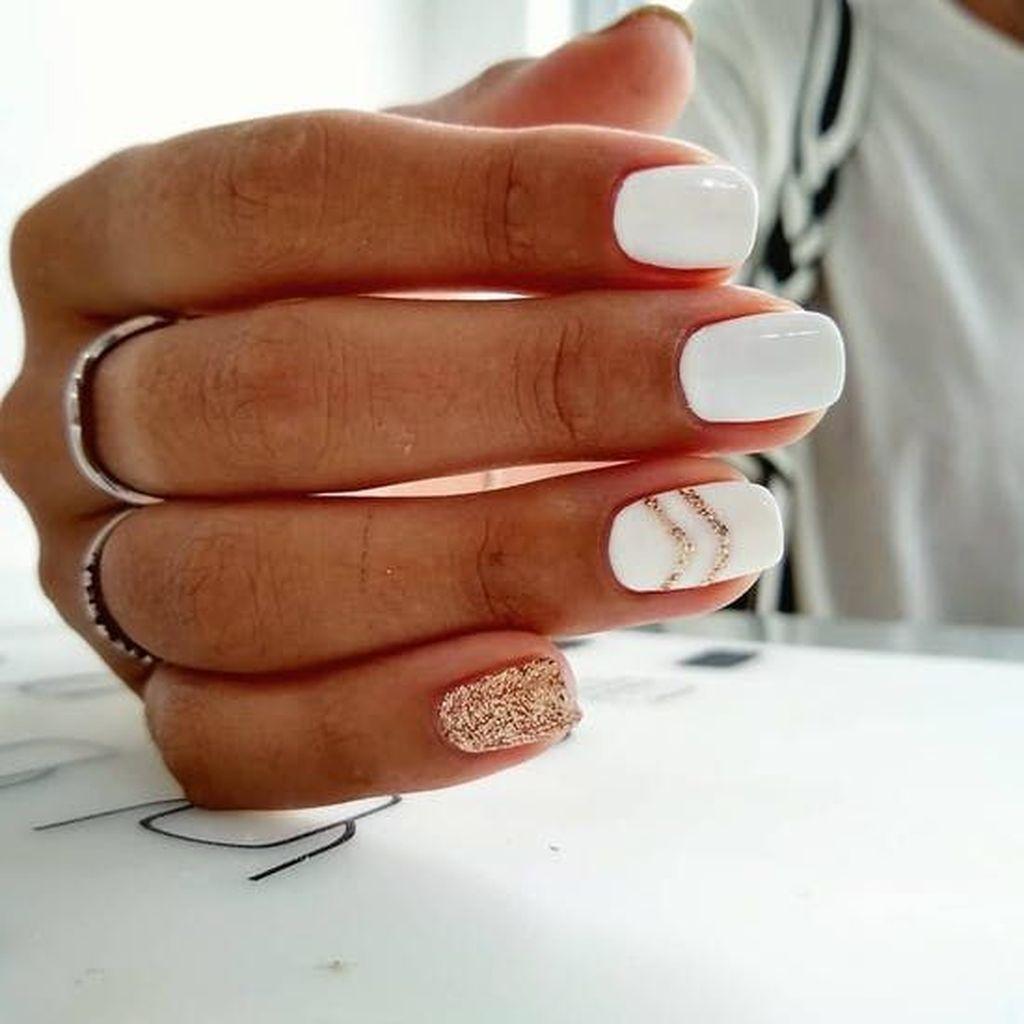 37 Unique Nail Design Ideas For Your Appearances Square Nail Designs White Nail Art White Nails