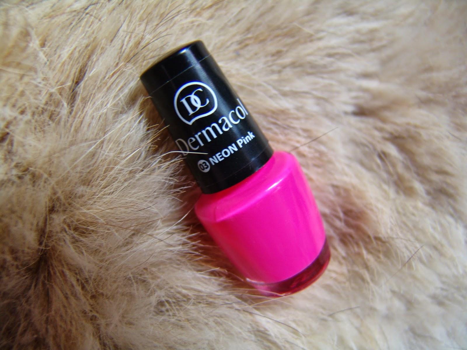 Angelina Beauty Blogger Dermacol 03 Neon Pink Lak Na Nehty Recenze