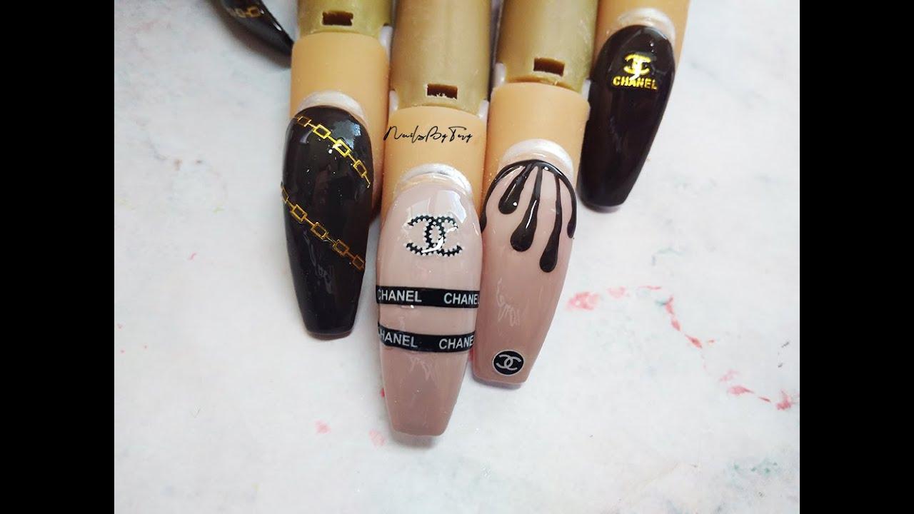 Akrylove Nehty Chanel Nailsbytery Youtube