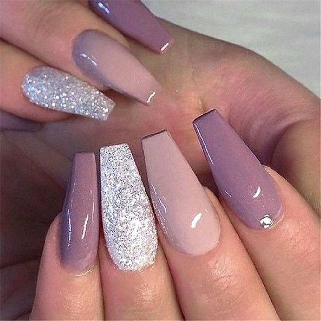 30 Gorgeous Matte Coffin Nails Design For Women 2019 Coffin Nails Designs Mauve Nails Nail Designs