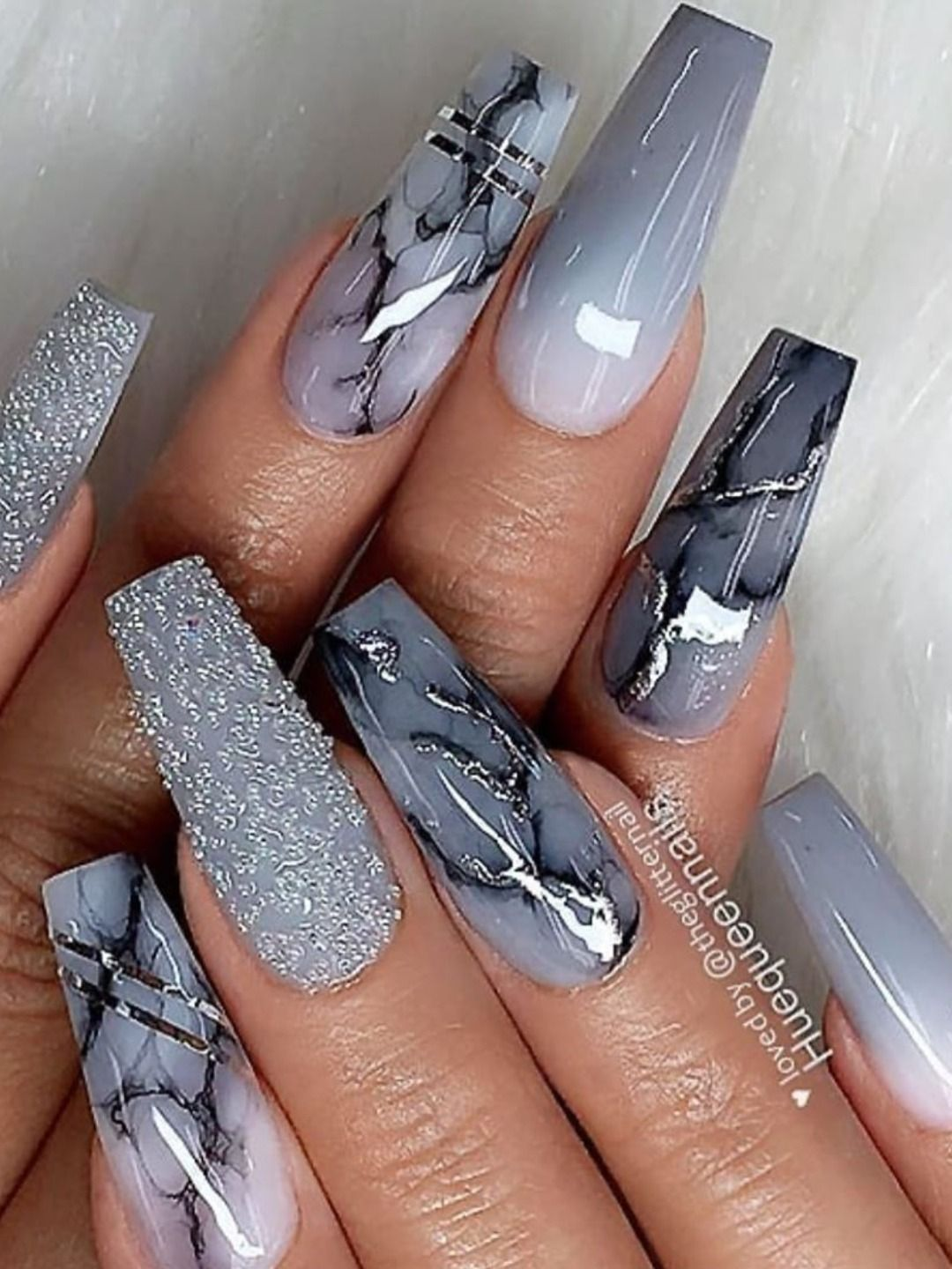 The Best Gray Nail Art Design Ideas Swag Nails Best Acrylic Nails Coffin Nails Long