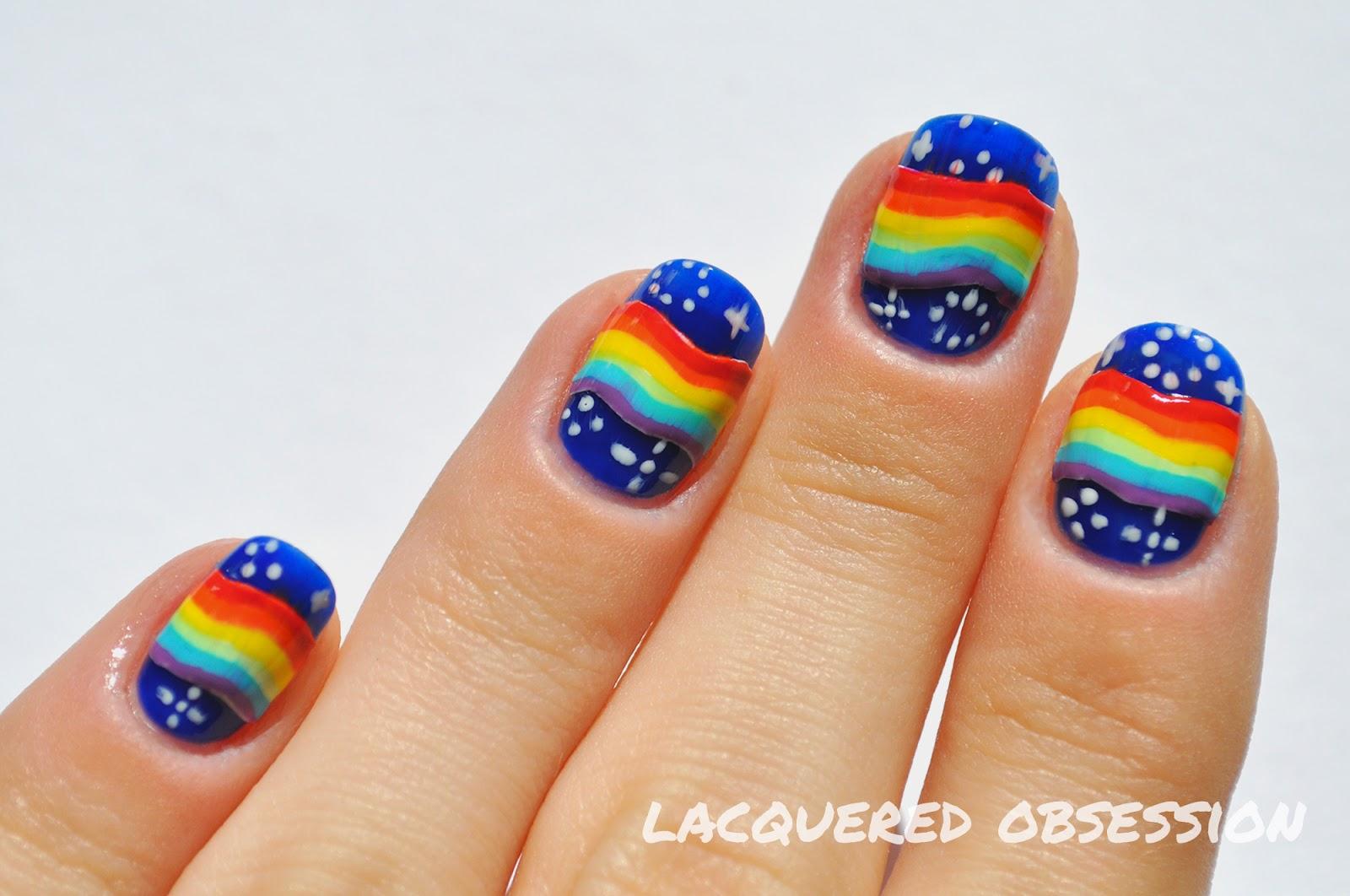 31dc2013 Den Deviaty Duhove Nechty Day 9 Rainbow Nails