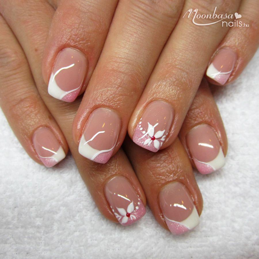 Moonbasanails Hu Gellakk Mukorom Webaruhaz Acrylic Nail Designs Nail Designs French Nail Designs
