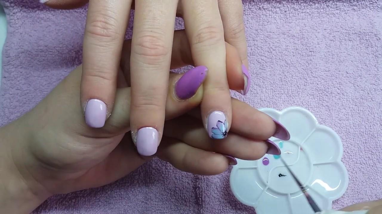 Flowers 3d Drops Nail Art Zlochesti Nokti Youtube