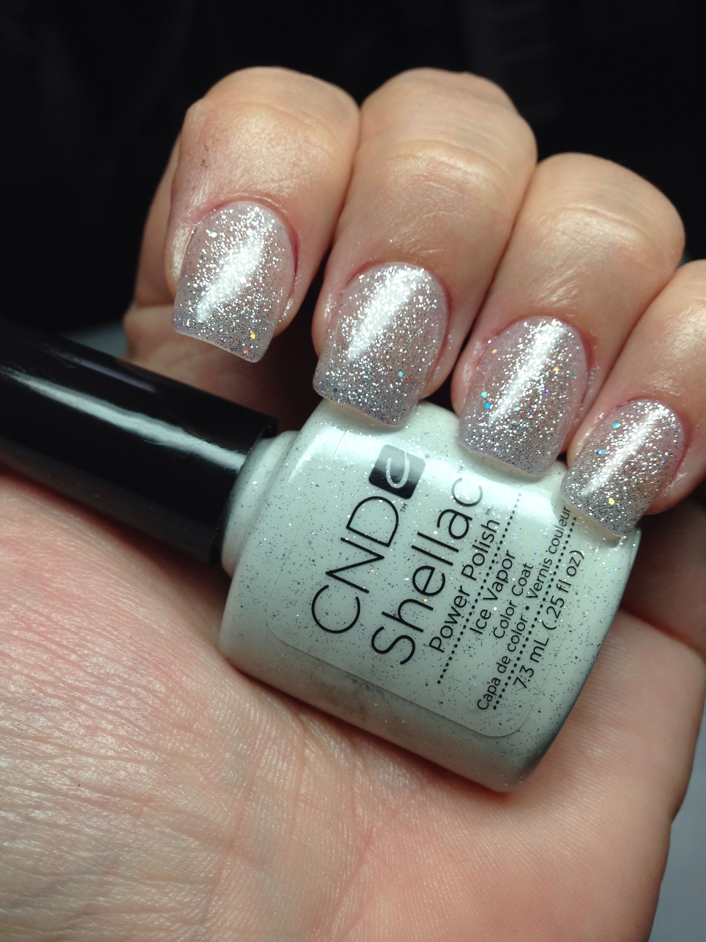 Cnd Shellac Ice Vapor Nails Love It One Of Our Favorites Here At La Salon Nehty