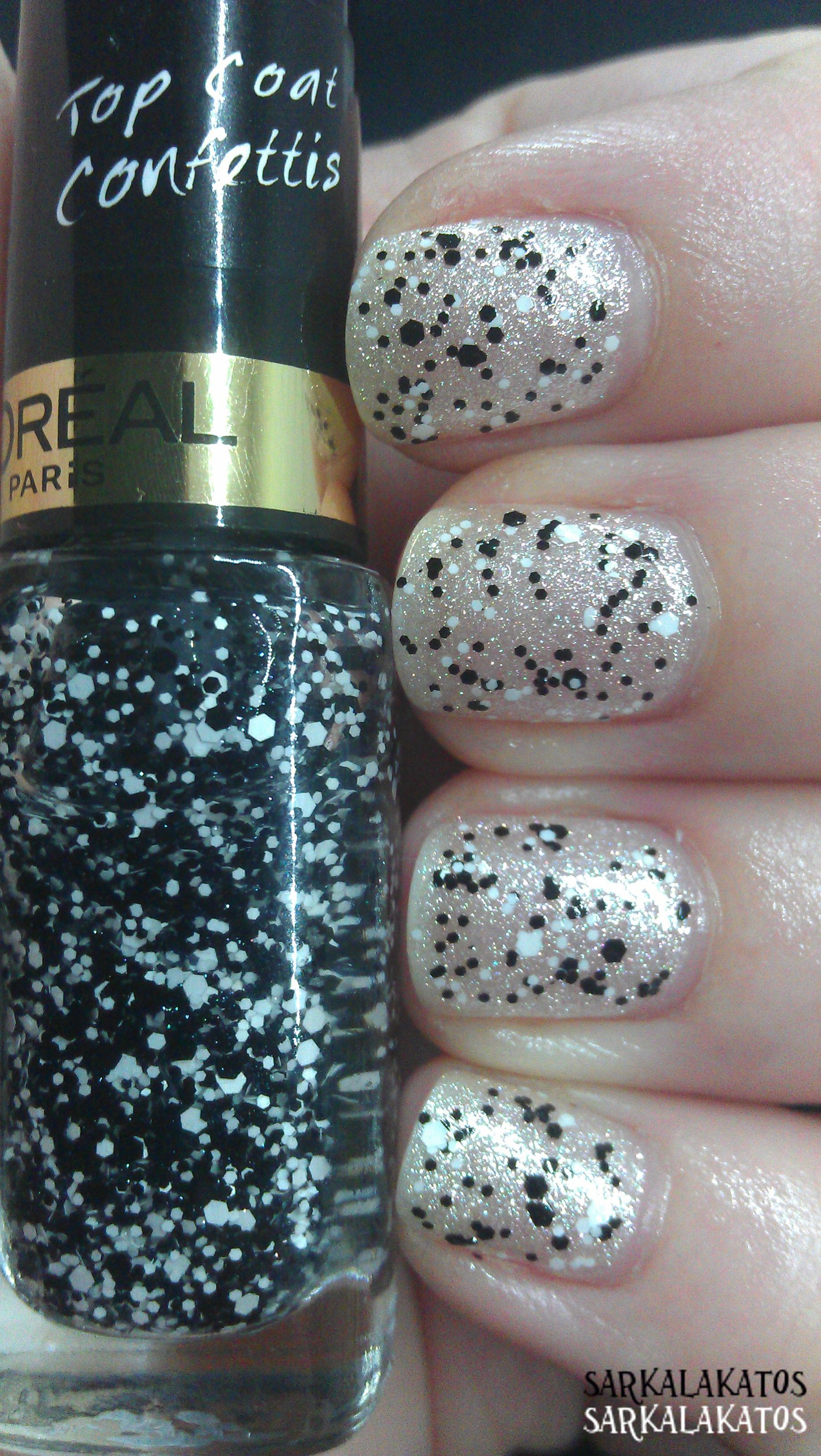 Loreal Color Riche Nails Top Coat Confettis Thank You Sis