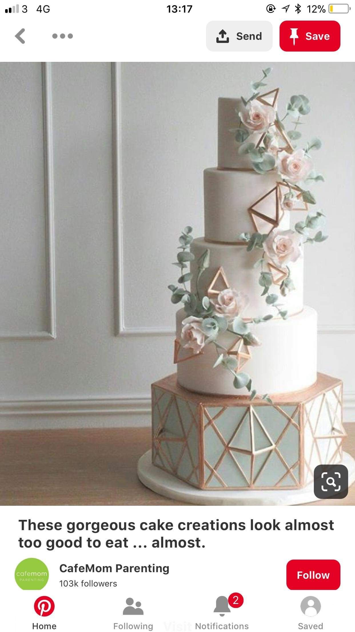 Pin By Michaela Valova On Wedding Ideas In 2020 Geometric Wedding Cakes Wedding Cakes Blue Wedding Cakes