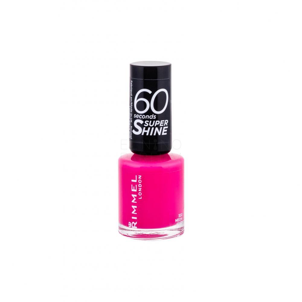 Rimmel London 60 Seconds By Rita Ora Lakier Do Paznokci Dla Kobiet 8 Ml Odcien 322 Neon Fest Elnino Parfum