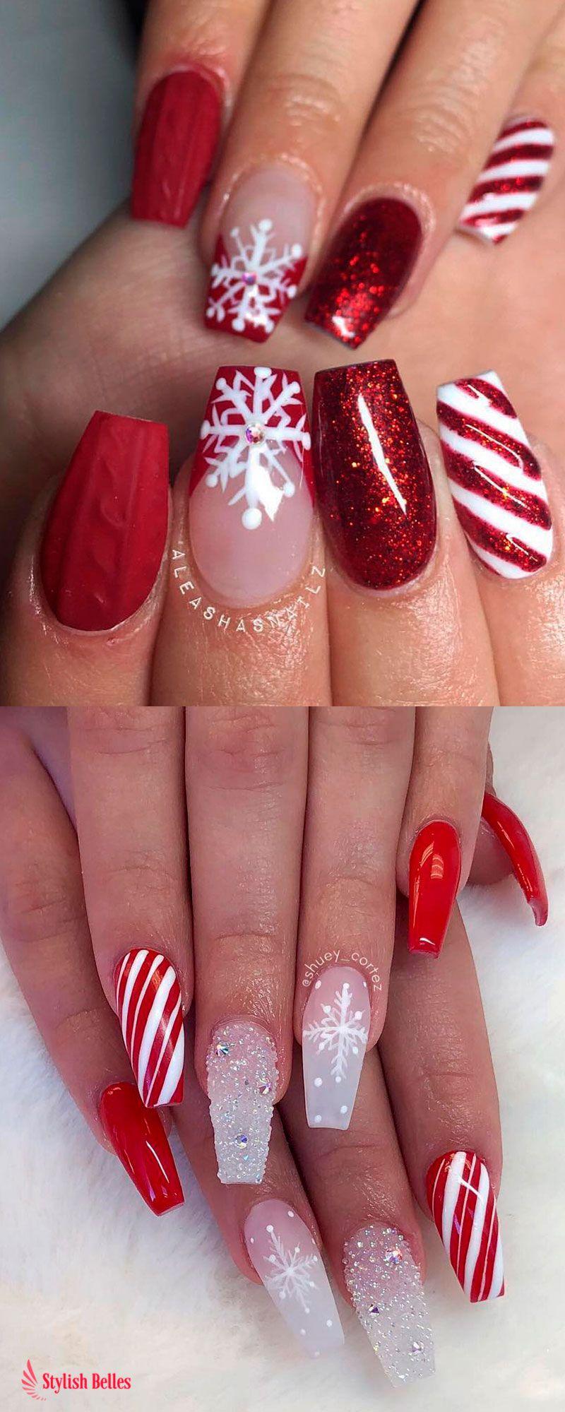 The Cutest And Festive Christmas Nail Designs For Celebration Design Nehtu Umele Nehty Gelove Nehty