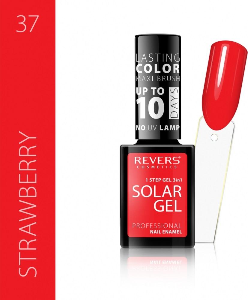 Revers Solar Gel Gelovy Lak Na Nehty 37 Strawberry 12 Ml Parfemomanie Cz