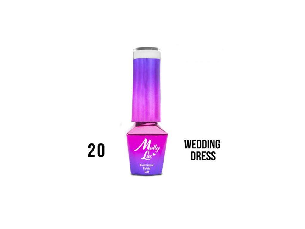 Gel Lak Molly Lac Wedding Yes I Do Wedding Dress 5ml Nr 20 Dreamfactory Sk