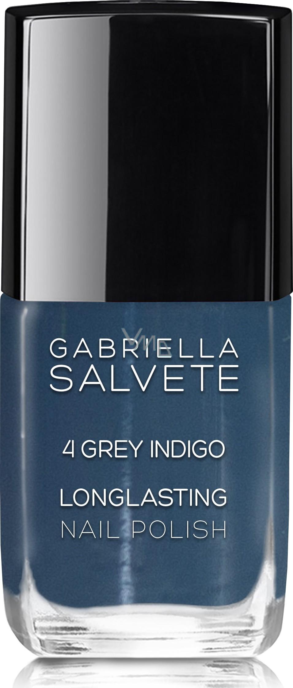 Gabriella Salva Longlasting Enamel Lak Na Nechty 04 Grey Indigo 11 Ml Vmd Drogerie