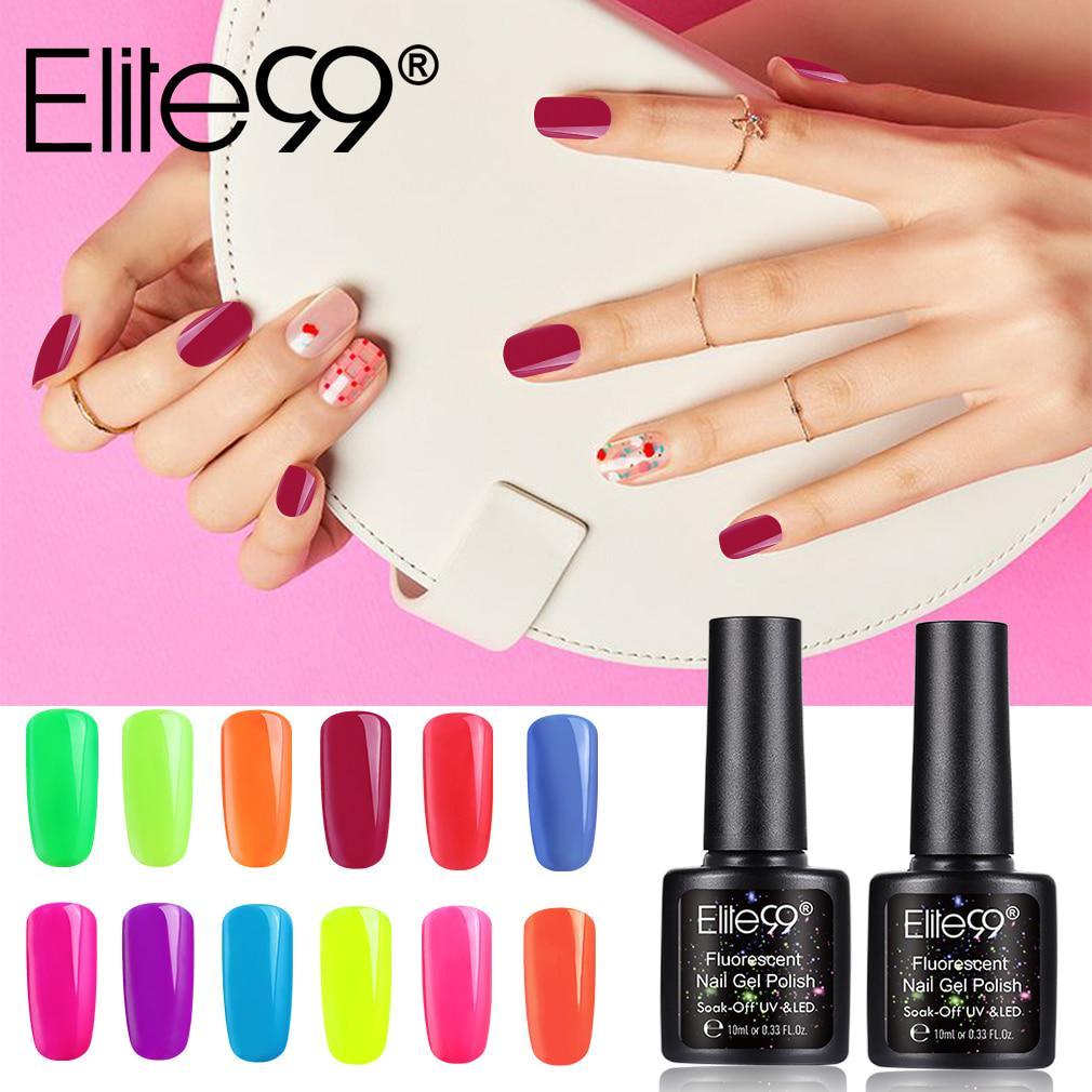 Elite99 10ml Fluorescent Gel Polish Semi Permanent Luminous Nail Gel Polish Soak Off Uv Gel Buy At A Low Prices On Joom E Commerce Platform