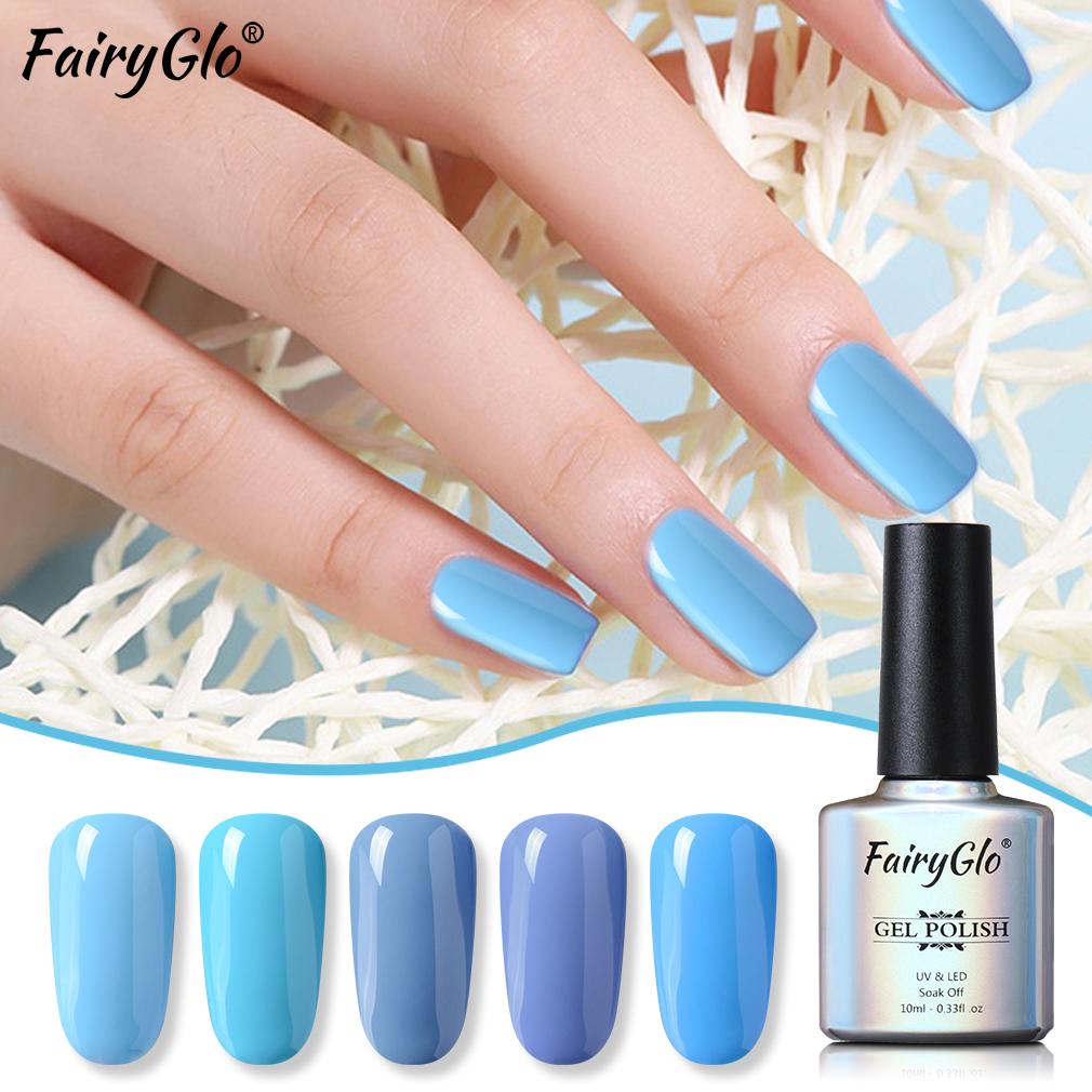 Fairyglo 10ml Blue Color Series Soak Off Uv Gel Polish Vernis Semi Permanent Nail Polish Uv Enamle Lacquer Gellak Paint Manicure Nail Gel Aliexpress