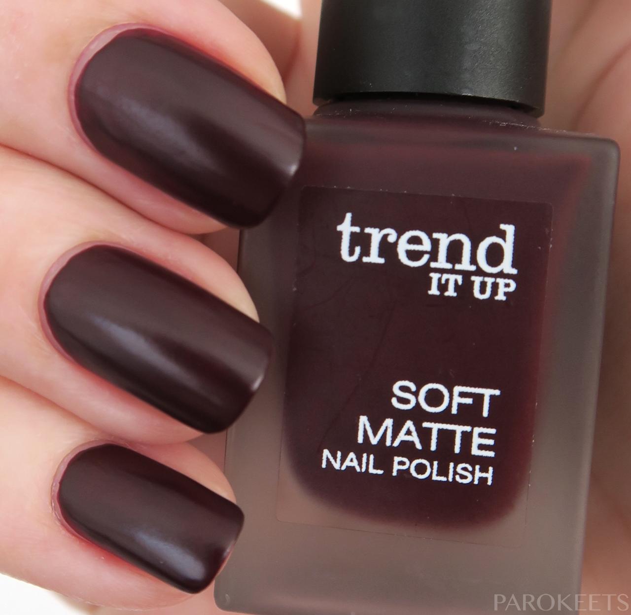 Trend It Up Soft Matte Nail Polishes Parokeets