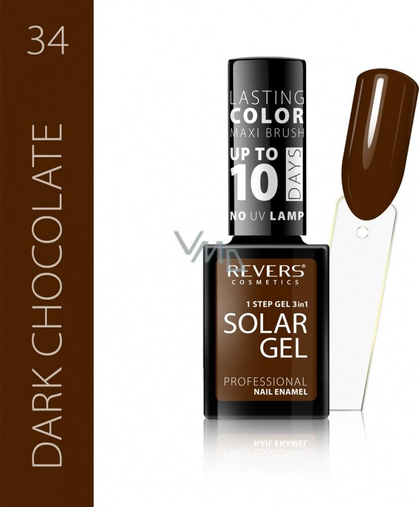 Revers Solar Gel Gelovy Lak Na Nehty 34 Dark Chocolate 12 Ml Vmd Drogerie A Parfumerie