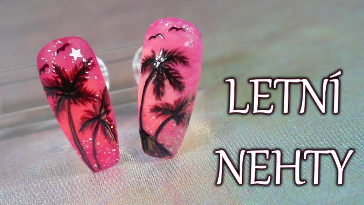 Neonove Nehty Letni Nehty Tutorial Youtube
