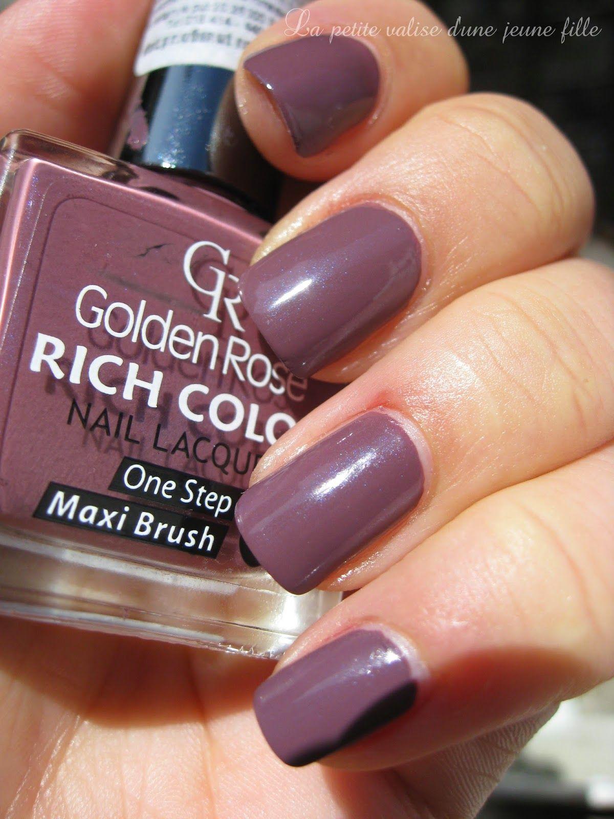La Petite Valise D Une Jeune Fille Golden Rose Rich Color 104 Nail Polish Golden Rose Nails
