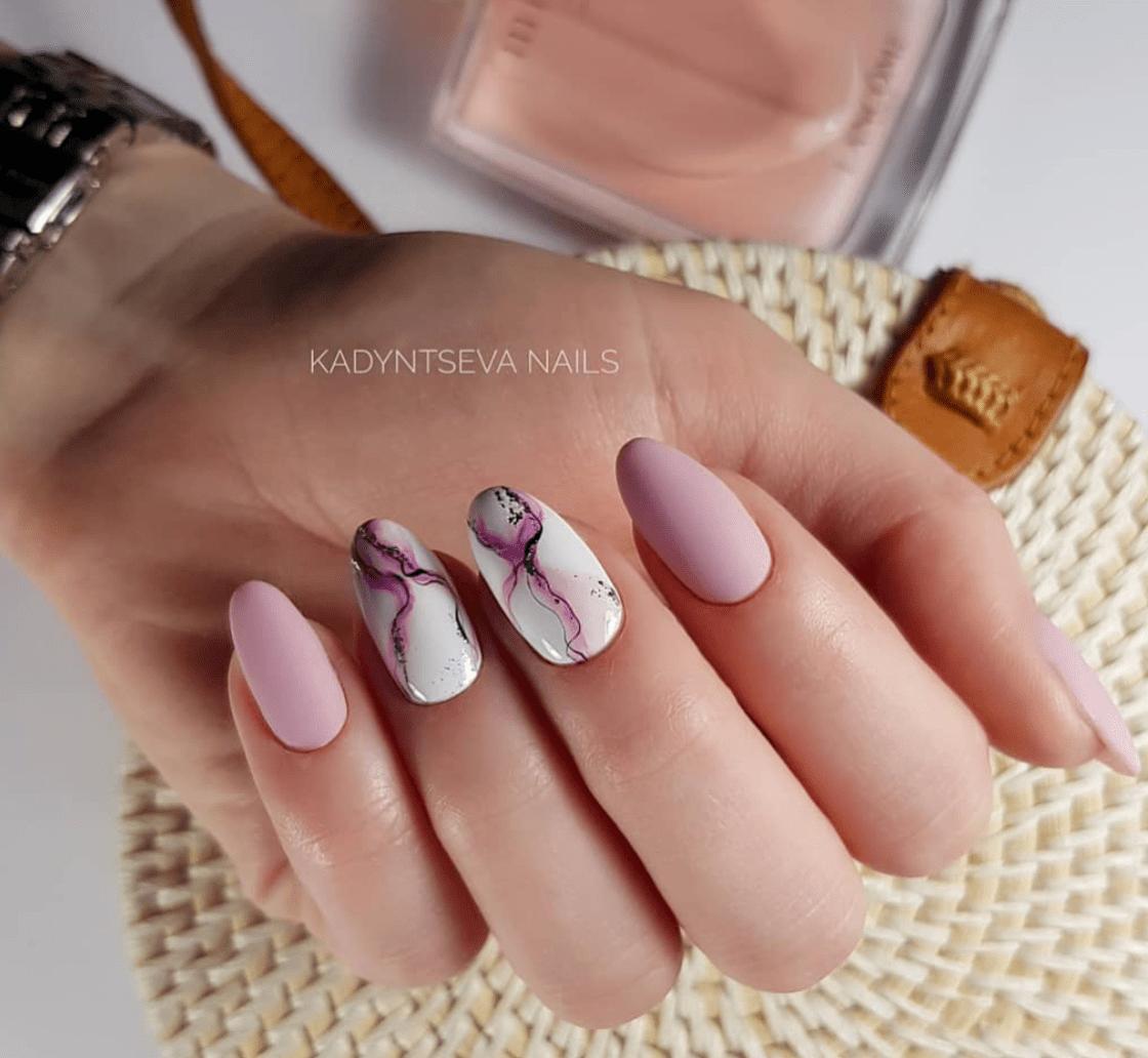 12 Nail Designs For Baby Pink Lovers Gelove Nehty Akrylove Nehty Design Nehtu