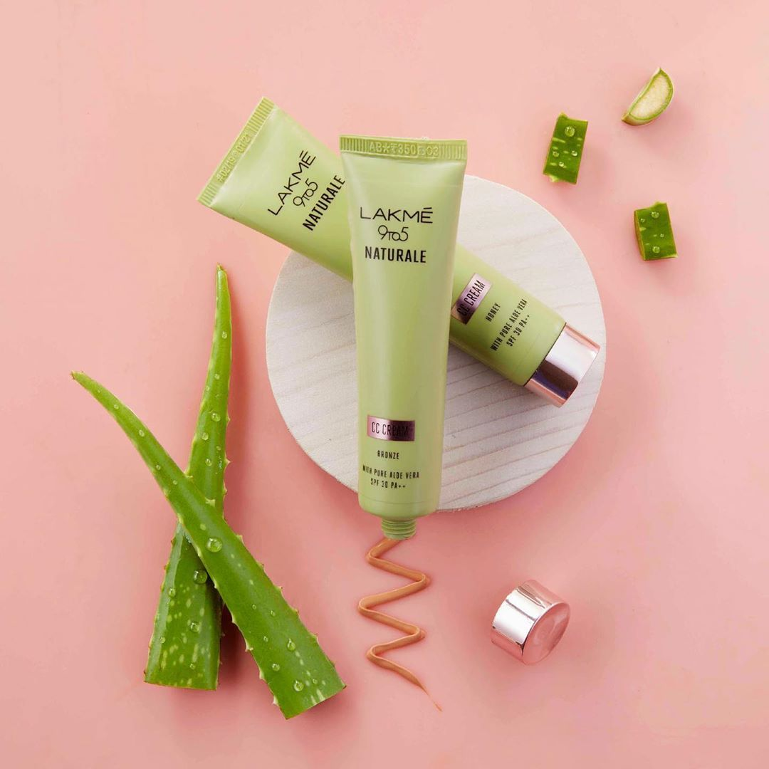 Introducing Our New Complexion Member Lakme 9to5 Naturale Cc Cream Infused With Aloe Vera And Contains Spf 30 Pa Very Suitable For Cc Cream Aloe Vera Aloe