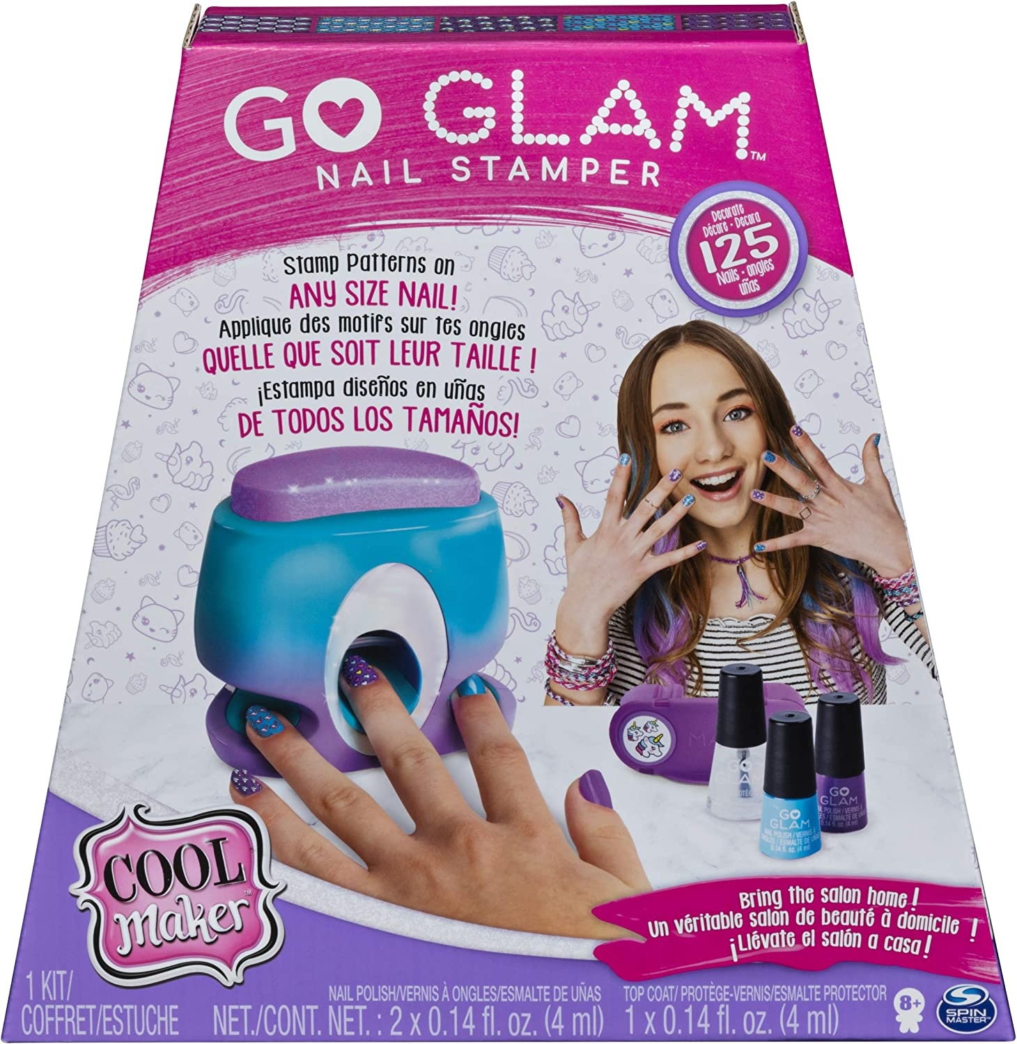 Amazon Com Cool Maker Go Glam Nail Stamper Studio Packaging May Vary Toys Games