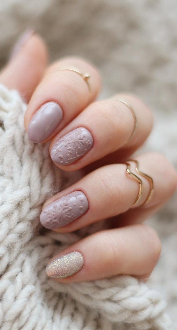 60 Best Winter Nail Art Ideas 2019 Page 11 Of 63 Winter Nails Winter Nail Art Pink Nail Art