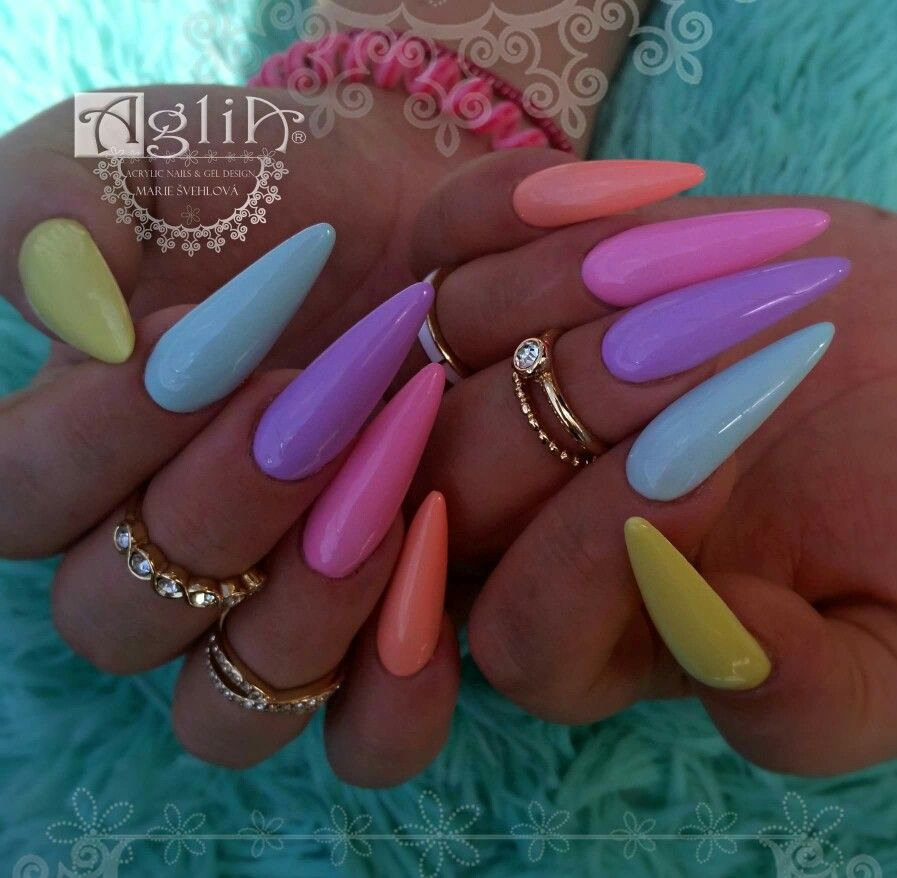Acrylic Nails Gel Design Summer Nails Candy Nails