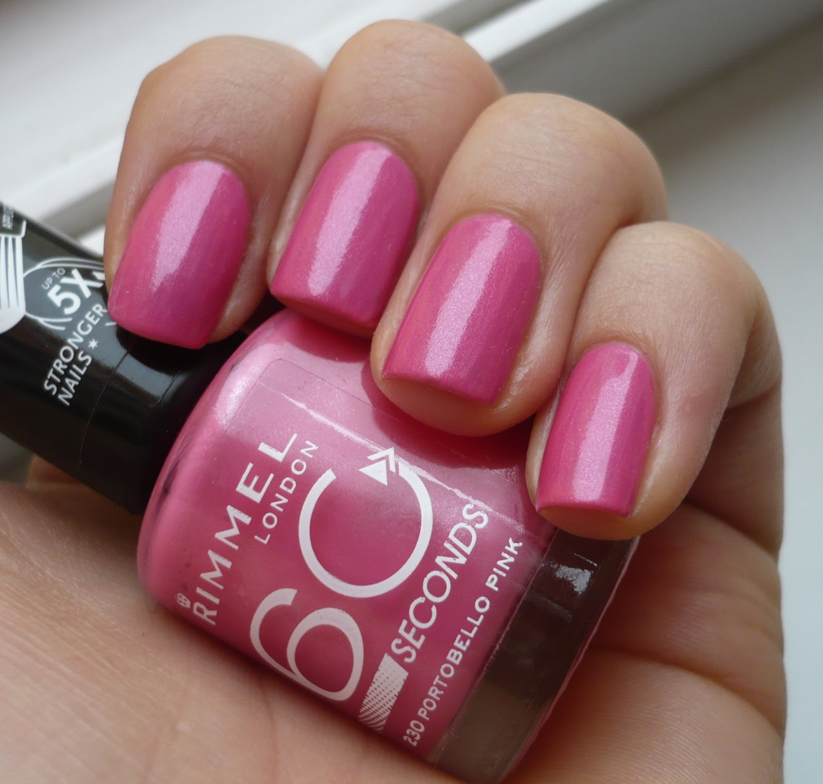 Spiced Chocolate Blog Lak Na Nehty Rimmel 60 Seconds 230 Portobello Pink