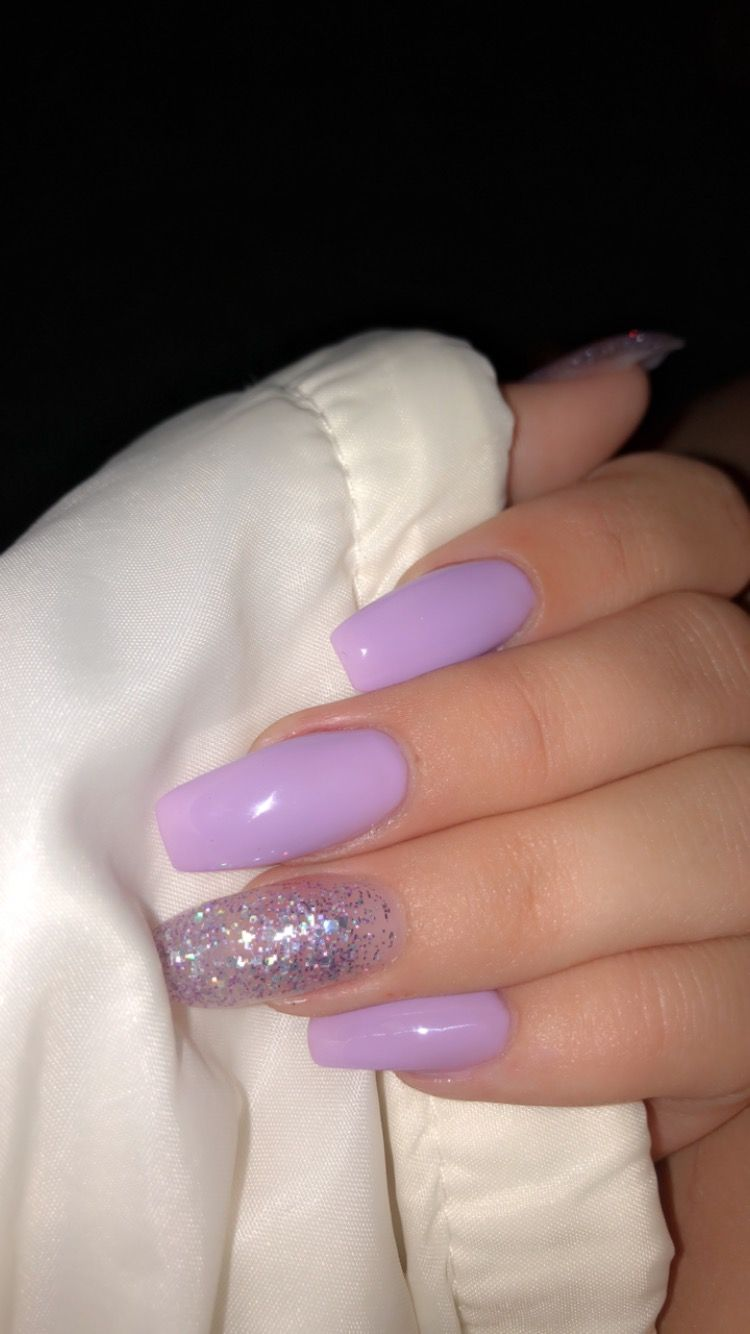 Pin By Adele On Nails Purple Acrylic Nails Purple Nails Short Acrylic Nails