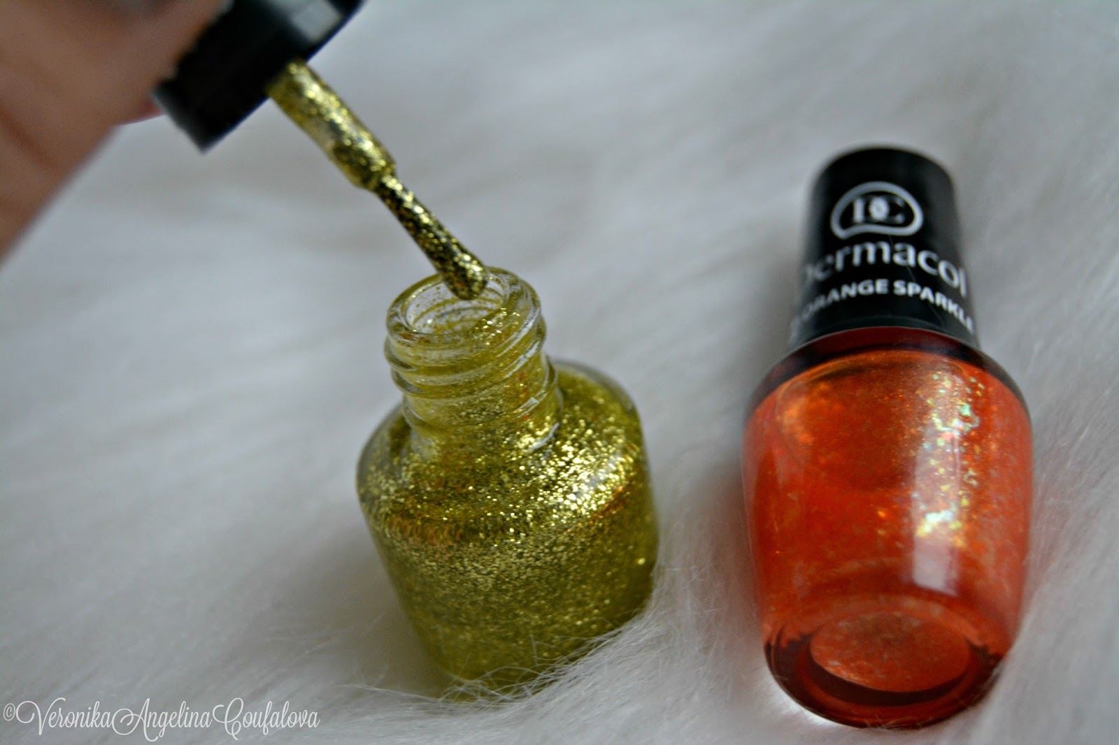 Dermacol Glitter Touch Laky Na Nehty Recenze Angelina Beauty Blogger