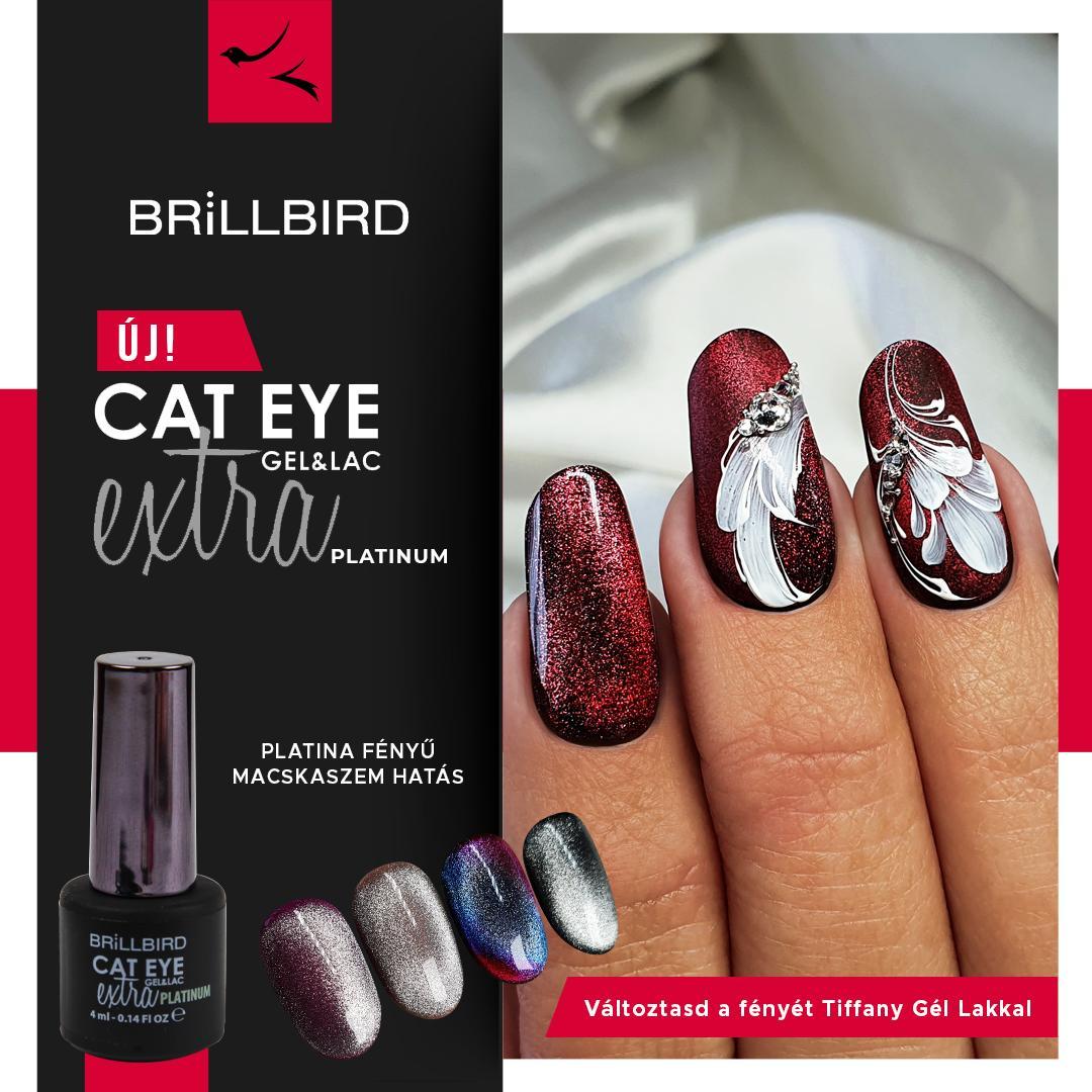 Cat Eye Extra Gel Lakk Platinum 4ml Brill Cosmetix Debrecen