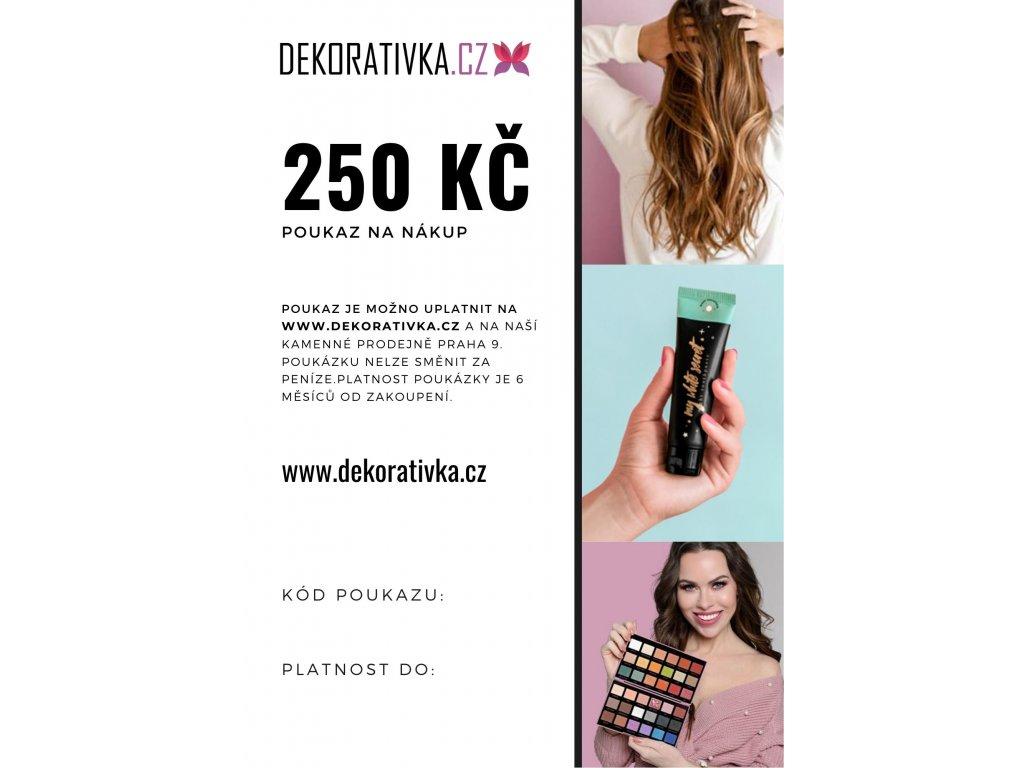 Elektronicky Darkovy Poukaz Na Nakup Zbozi V Hodnote 250 Kc Dekorativka Cz