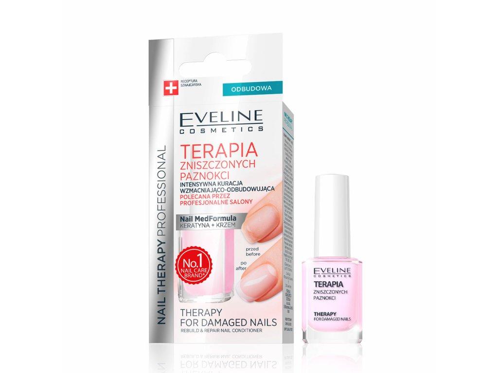 Eveline Cosmetics Nail Therapy Terapie Pro Znicene Nehty Evelio Cz