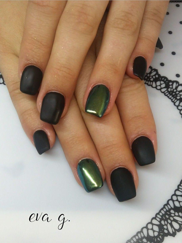 Ruscona Nails Nailart Luxuryblack Chameleonefekt Velvetmatt Extremetop
