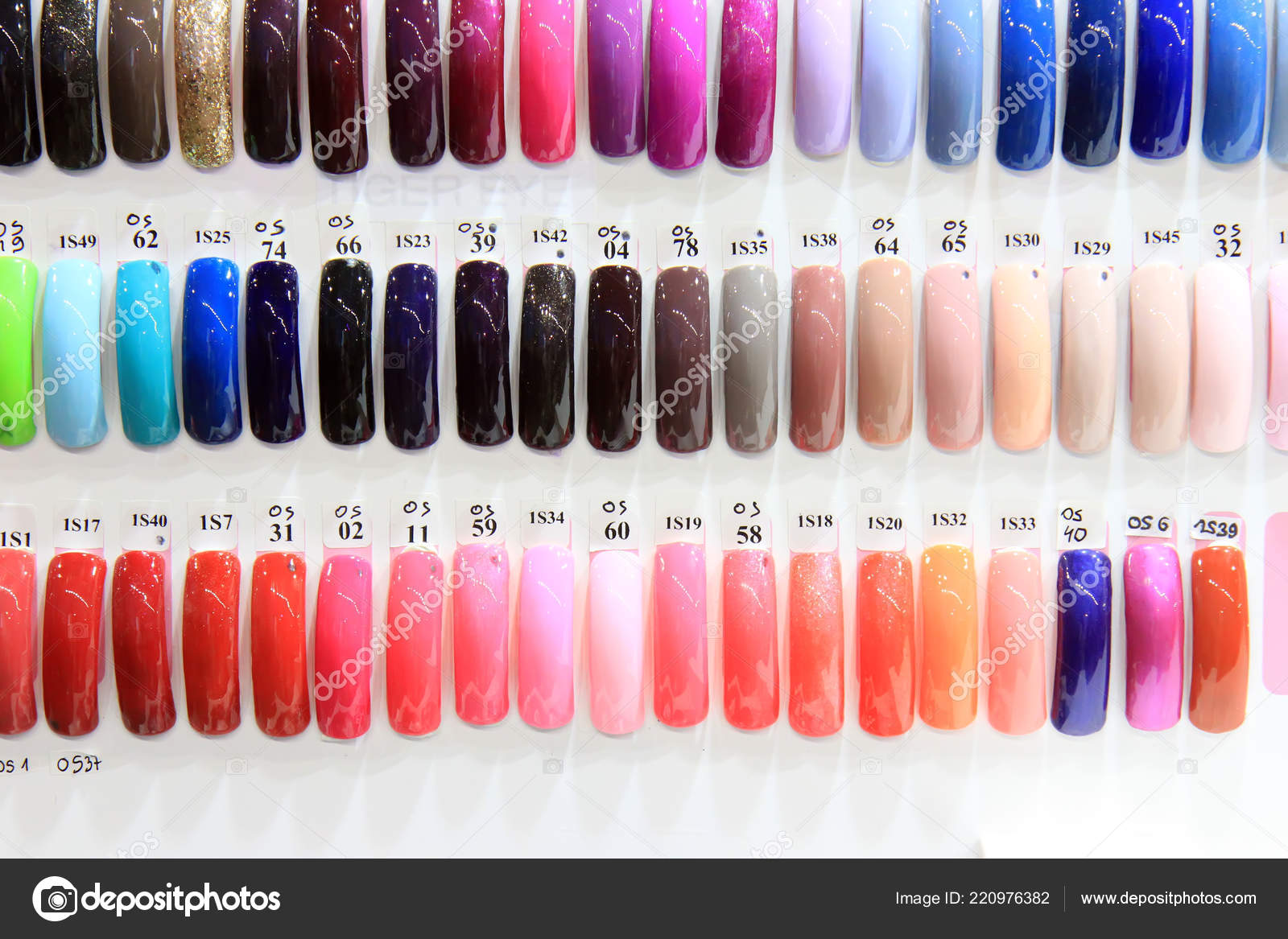 Various Nail Gel Colors Cosmetic Products Various Colors Nail Gel Stock Photo C Gdragan 220976382
